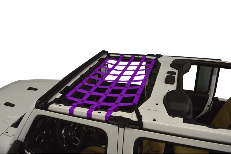Dirty Dog 4x4 Front Seat Netting, Purple - JL 4Dr