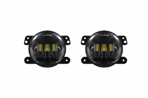 Quake LED 4in Tempest Series RGB Fog Lights, Black - Quad Lock/Interlock Compatible - JK/TJ