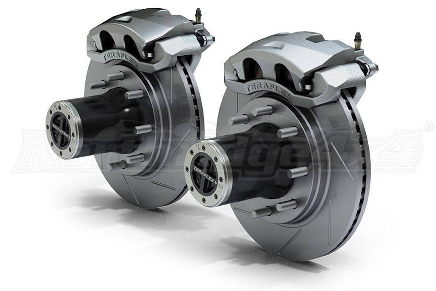 Teraflex JK Front 8-Lug Locking Hub Conversion Kit w/ Big Brakes Slotted Rotors (Part Number:3034413)