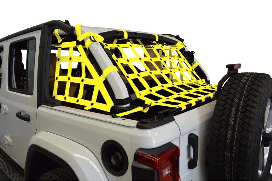 Dirty Dog 4x4 3pc Cargo Side Netting Kit, Yellow - JL 4Dr