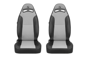 Corbeau Moab Black Vinyl/Grey Cloth Seat Pair