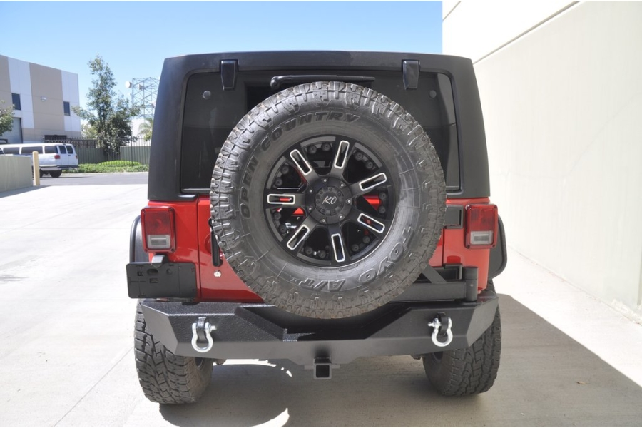 DV8 Offroad RS-2 Single Action Rear Bumper and Tire Carrier (Part Number:RBSTTB-02)