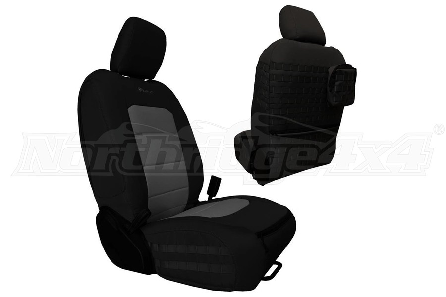 Bartact Tactical Series Front Seat Covers - Black/Graphite - JT