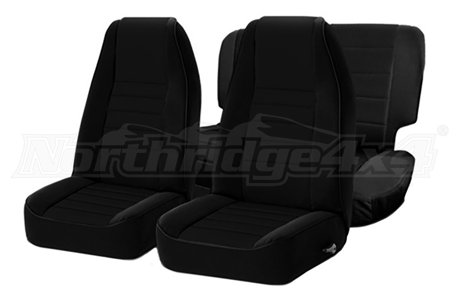 Smittybilt Neoprene Front and Rear Seat Covers Black  (Part Number:471401)