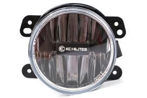 KC HiLiTES Gravity LED Fog Light Kit Clear - JK 2007-09