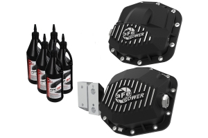 aFe Power Pro Series Front & Rear Differential Covers w/ Gear Oil - JT 3.6L