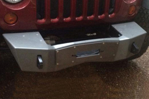 Nemesis Industries Notorious Front Bumper w/ Winch Plate Offset Drum - Bare Aluminum (Part Number: )