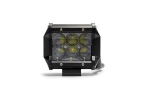 DV8 Offroad 4 in Chrome Series LED Cube Light - Spot/Flood Beam (Part Number: )