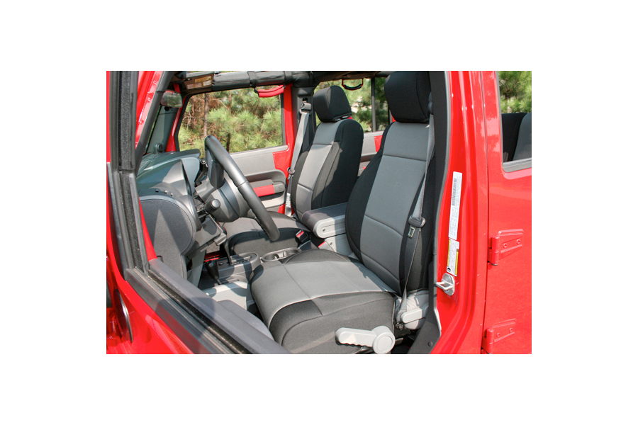 Rugged Ridge Front Seat Covers Black/Grey - JK 2011+
