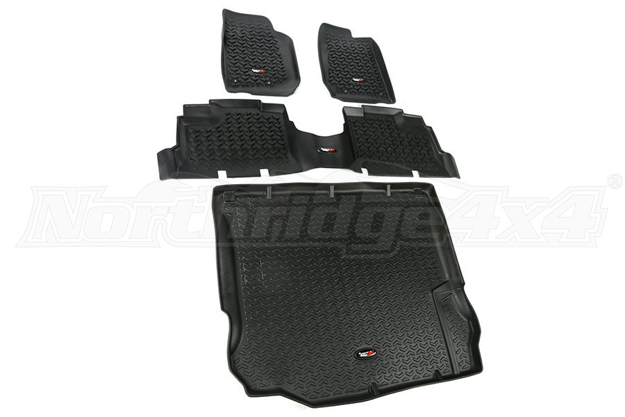 Rugged Ridge Floor Liner Kit, Black (Part Number:12988.04)