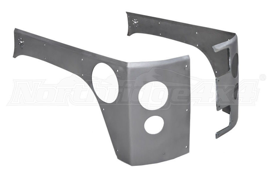 Poison Spyder Crusher Corners Stock for LED Tail and Backup Lights Bare - JK 4dr