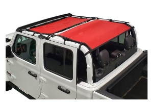 Dirty Dog 4x4 Sun Screen Front and Rear-Red - JT