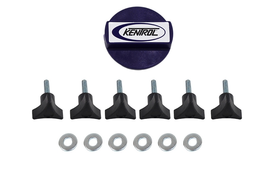 Kentrol Hardtop Removal Kit - Textured Black  - JK
