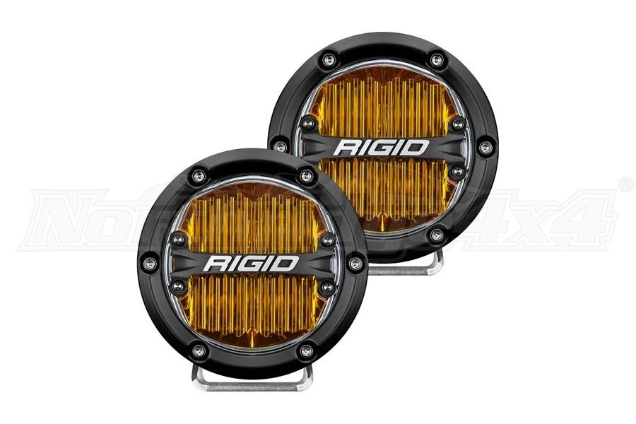 Rigid Industries 360-Series 4in Fog LED Lights, Amber - Pair