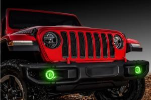Oracle LED Surface-Mount Fog Light Halo Kit - Green - JT/JL and JK w/ Factory LEDs
