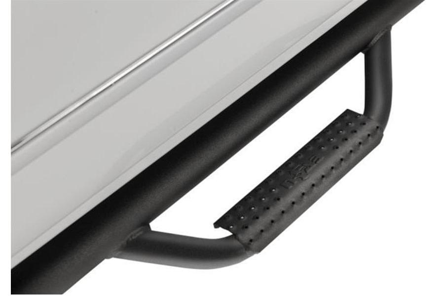 N-Fab Step Systems Full Length Nerf Steps - Gloss Black  - Ford Bronco 4Dr