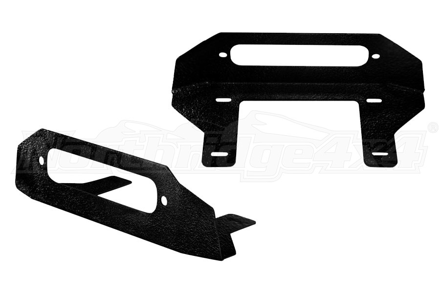 LOD Destroyer Front Bumper Fairlead Mount Black Powder Coated - JL/JK