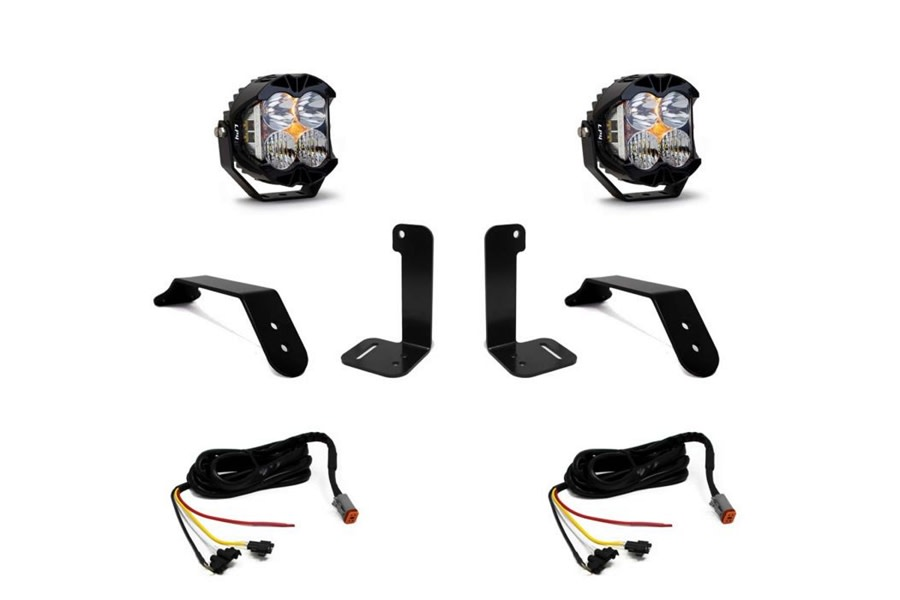 Baja Designs Dual LP4 Series LED Light Kit w/ Upfitter Harness - JT/JL w/ Plastic Bumper