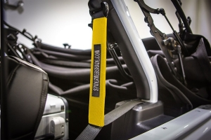 Spiderwebshade SeatBelt Silencers Yellow (Part Number: )