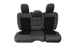 Bartact Tactical Rear Seat Cover w/Fold Down Armrest Graphite/Black (Part Number: )