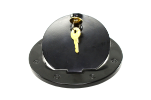Rugged Ridge Locking Gas Cap Door Black Steel  - JK