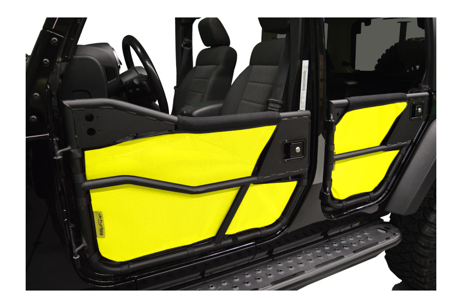 Dirty Dog 4x4 Bestop Tube Door Screens Front & Rear, Yellow (Part Number:J4TS07BTYL)