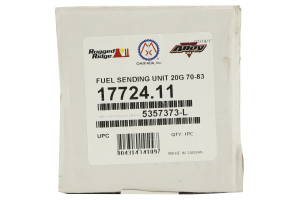 Rugged Ridge 20 Gal Fuel Sending Unit (Part Number: )