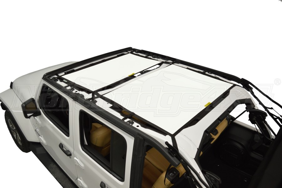 Dirty Dog 4x4 Sun Screen Front and Rear - White (Part Number:JL4S18F2WH)