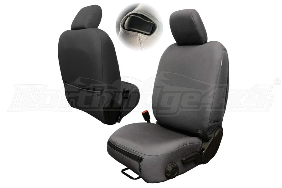 Bartact Baseline Performance Front Seat Covers, Pair - Graphite - JL 2Dr