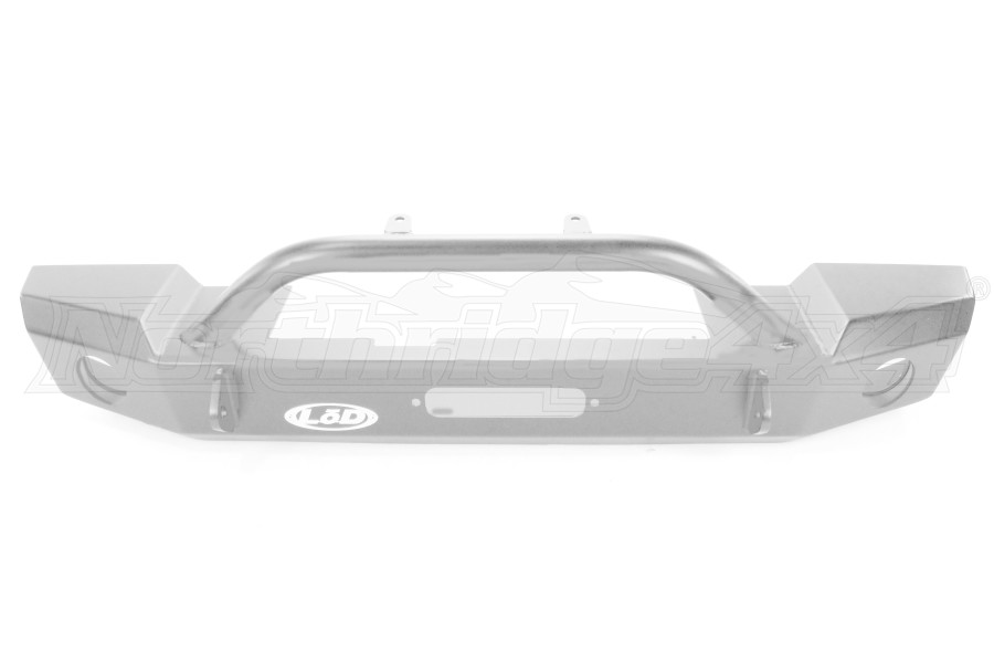 LOD Signature Series Mid-Width Front Bumper w/ Bull Bar Bare Steel ( Part Number: JFB0742)