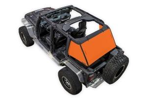 SpiderWebShade 1-Piece Cargo Shade Cover - Orange - JK 4Dr