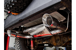 MBRP Axle Back Dual Rear Exit T-109 Stainless Steel - JK