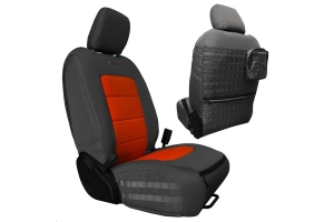 Bartact Tactical Front Seat Covers Graphite/Orange (Part Number: )