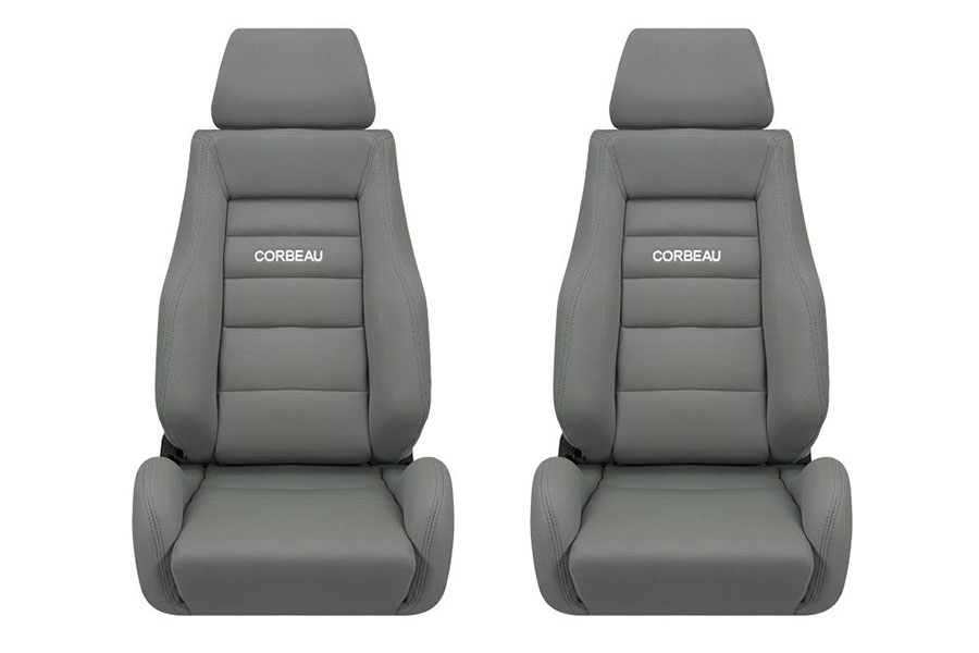 Corbeau GTS II Grey Cloth Seat Pair