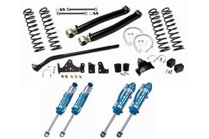 EVO Manufacturing 3in Enforcer Stage 1 Lift Kit w/ Draglink Flip Kit and King 2.5 Shocks - JK