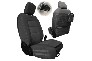 Bartact Tactical Series Front Seat Covers, Pair - Graphite/Graphite - JL 2Dr