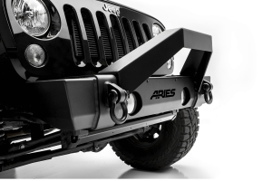 Aries Trail Crusher Bumper W/ Brush Guard - JK