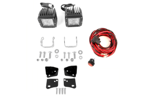 Rigid Industries D2 LED Diffused Lights and Lower A-Pillar Light Mounts Kit ( Part Number: 45-28-RDA-50251-KIT)