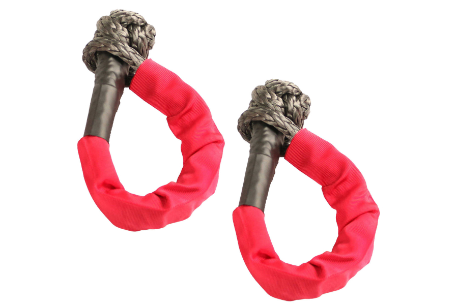 Rugged Ridge 7/16-Inch Soft Rope Shackle, Red Pair  (Part Number:11235.52)