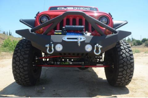 DV8 Offroad Full Width Front Bumper w/Bull Bar and Skid Plate  (Part Number: )