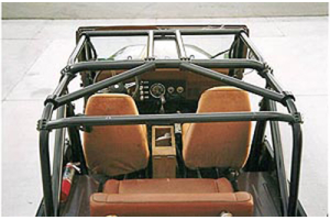 Rock Hard 4x4 Ultimate Sports Cage Straight Across Rear Bars (Part Number: )