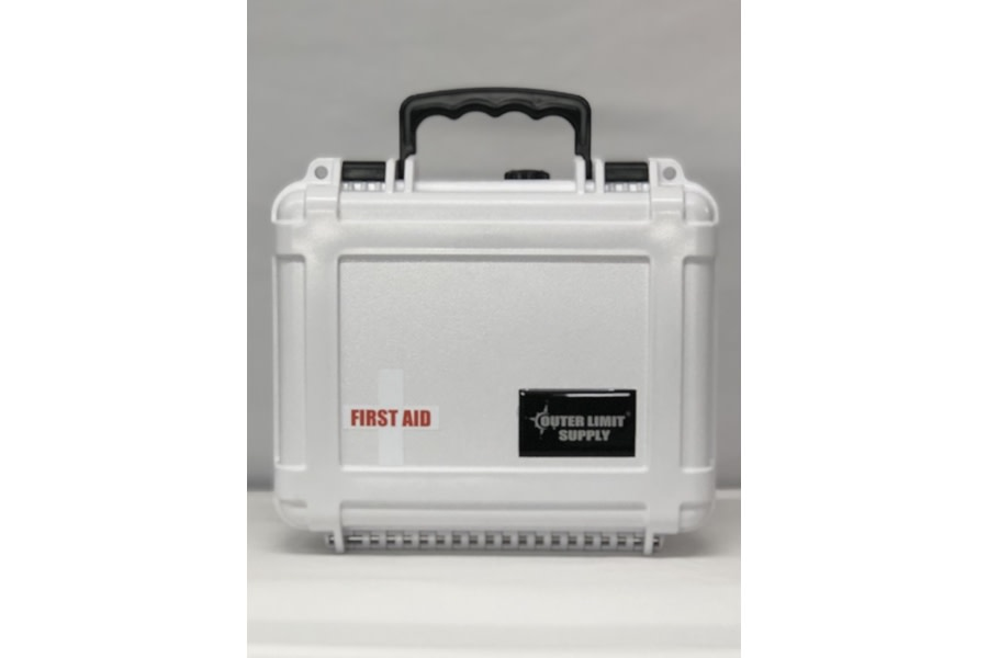 Outer Limit Supply Waterproof Individual First Aid Kit - White