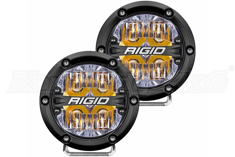 Rigid Industries 360 SERIES 4in LED OFF-ROAD Lights - Driving w/Amber Backlight