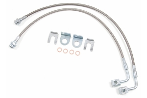 Zone Offroad Rear Stainless Brake Lines - 4in-6in Lift