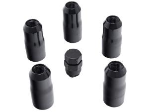 Rugged Ridge 14x1.5 Wheel Locks, Black 5 pieces - JT/JL