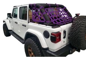 Dirty Dog 4x4 Netting Kit Spider Sides 3pc Purple - JL 4dr