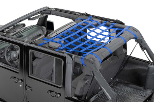 Dirty Dog 4x4 Rear Seat Netting Blue (Part Number: )