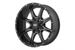 Moto Metal Wheels MO970 Series Non-Beadlock Wheel Satin Black, 17x8 8x6.5