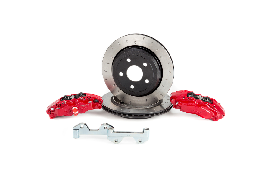 Alcon Heavy Duty Rear Brake Kit 4-Piston Red Calipers 330x22mm rotors - JL/JK