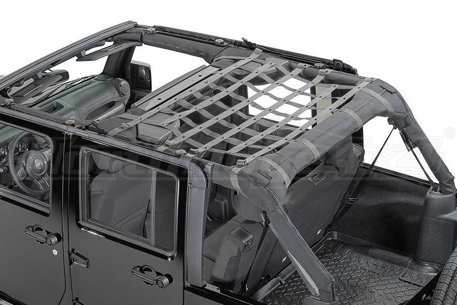 Dirty Dog 4x4 Rear Seat Netting Grey - JK 4DR